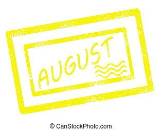 calendar august stamp