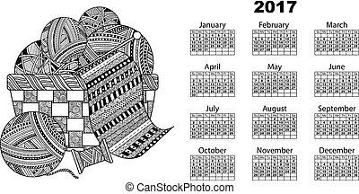 calendar ball of yarn