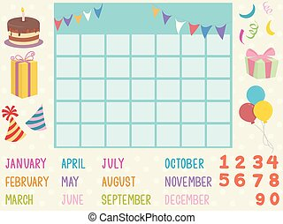 Calendar Birthday Elements Illustration