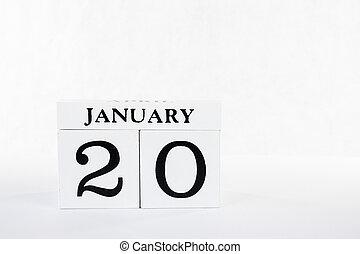 Calendar blocks January 20 Martin Luther king jr day 2020