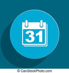 calendar blue flat web icon