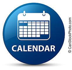 Calendar blue round button