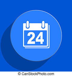 calendar blue web flat icon