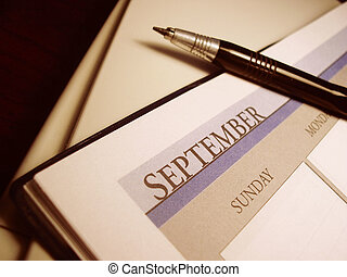 Calendar - Calender displaying the month of September