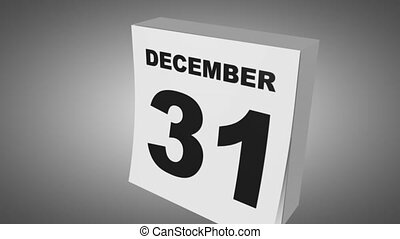 1st of January - Calendar changing date, 1st of January, new...