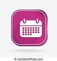 calendar. Color square icon