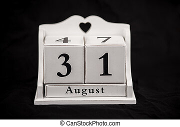 Calendar cubes August, thirty first, 31, 31st - Calendar...
