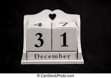 Calendar cubes december, thirty first, 31, 31st - Calendar...