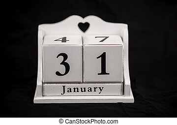 Calendar cubes January, thirty first, 31, 31st - Calendar...