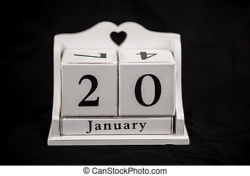 Calendar cubes January, twentieth, 20, 20th - Calendar cubes...