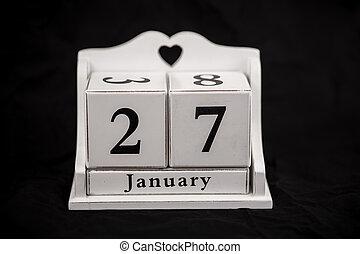 Calendar cubes January, twenty seventh, 27, 27th - Calendar...