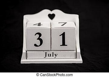 Calendar cubes July, thirty first, 31, 31st - Calendar cubes...