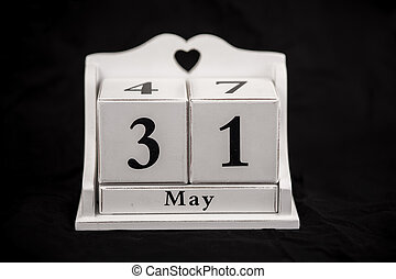 Calendar cubes May, thirty first, 31, 31st - Calendar cubes...