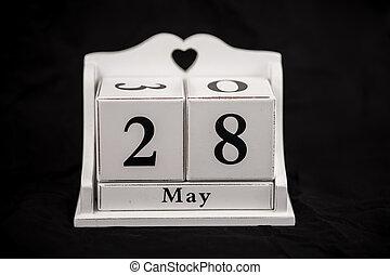 Calendar cubes May, twenty-eighth, 28, 28th