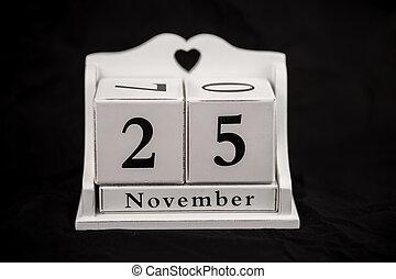 Calendar cubes november, twenty fifth, 25, 25th - Calendar...
