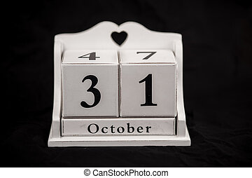 Calendar cubes October, thirty first, 31, 31st - Calendar...