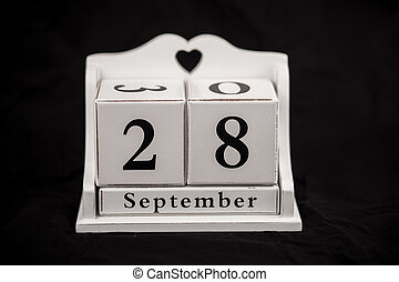 Calendar cubes September, twenty-eighth, 28, 28th