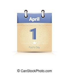 Calendar Data Page Fool Day 1 April