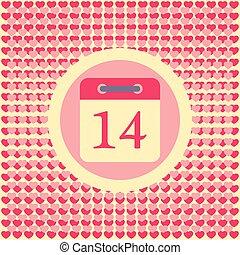 Calendar date February 14 Valentine's day - Calendar date...