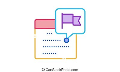Calendar Date Icon Animation. color Calendar Date animated icon on white background