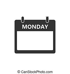 Calendar, day, event icon. Monday. Vector illustration, flat...