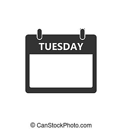 Calendar, day, event icon. Tuesday. Vector illustration,...