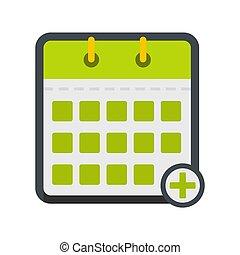 Calendar deadline icon, flat style