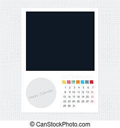 Calendar December 2014, Photo frame background