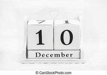 calendar december number date cube