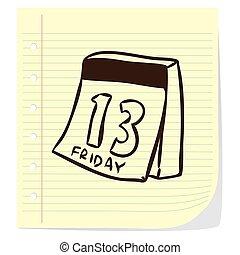 Calendar Doodle Illustration