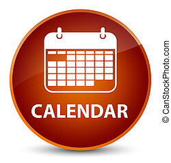 Calendar elegant brown round button