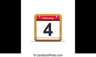 calendar., februar