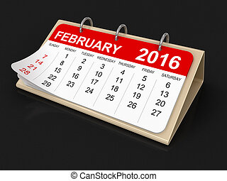 Calendar - february 2016 - Calendar year 2016 image. Image...