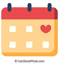 Calendar flat illustration