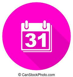 calendar flat pink icon