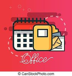 calendar folder file email document office