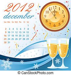 Calendar for 2012 December