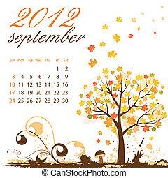 Calendar for 2012 September