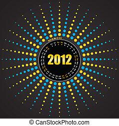 Calendar for 2012. Vector.