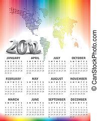 Calendar for 2012 vector