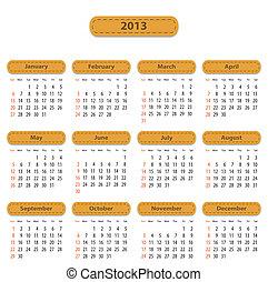 Calendar for 2013