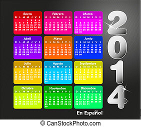 Calendar for 2014 in spanish