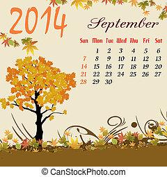 Calendar for 2014 September