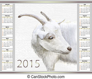 calendar for 2015 with the goat