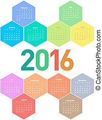 Calendar for 2016 year.
