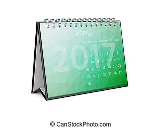 Calendar for 2017 april