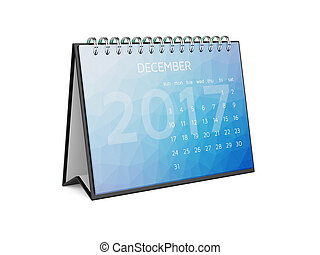Calendar for 2017 december