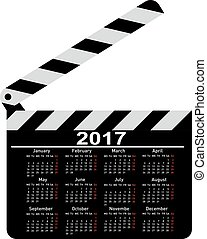calendar for 2017 movie clapper boa