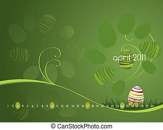 Calendar for April 2011