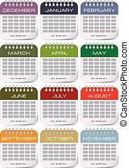 Calendar for each month